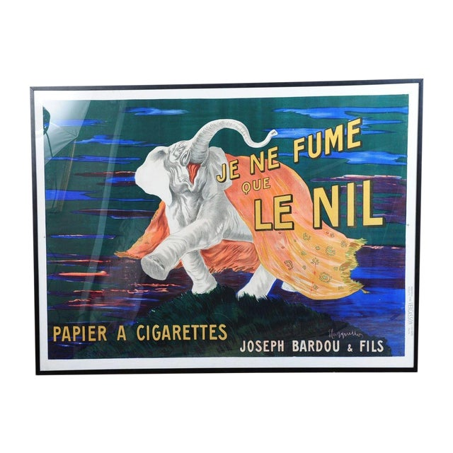 Je Ne Fume Que Le Nil-Original 20s Elephant Poster For Sale