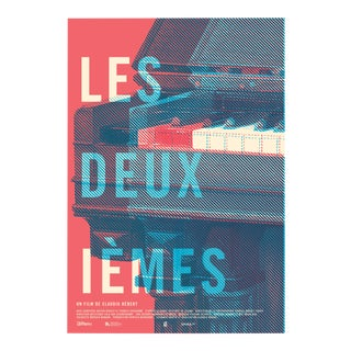 "2016 Contemporary Film Poster, ""Les Deuxiemes"" (Red and Blue) For Sale"