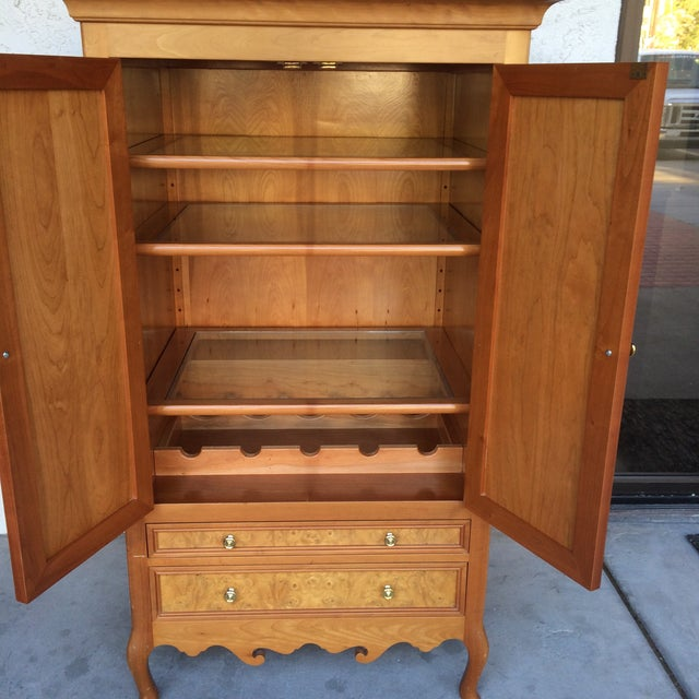 Burlwood Bar Cabinet - Image 5 of 8