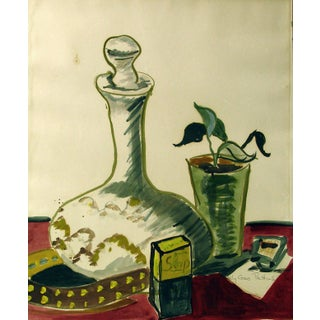 Modernist Still Life, Watercolor Painting For Sale