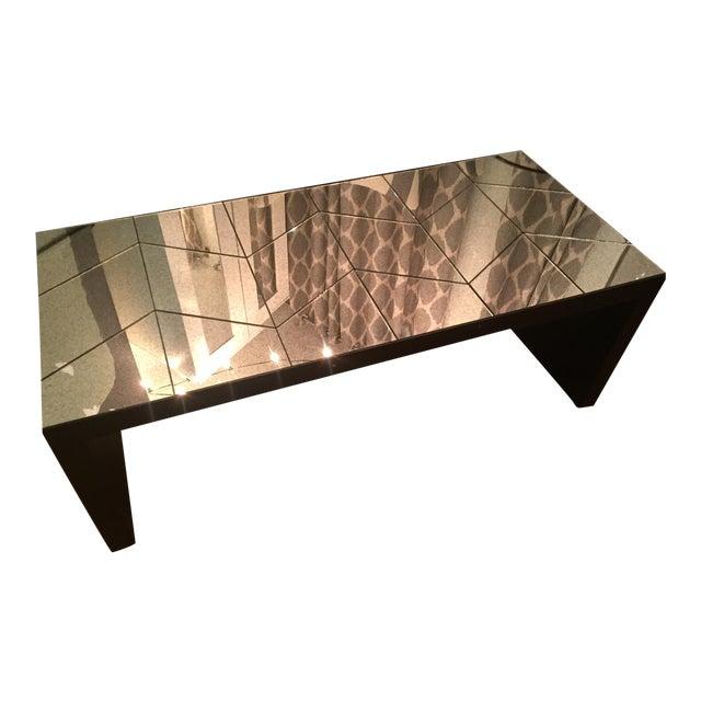West Elm Mirrored Herringbone Coffee Table Chairish - West elm coffee table sale