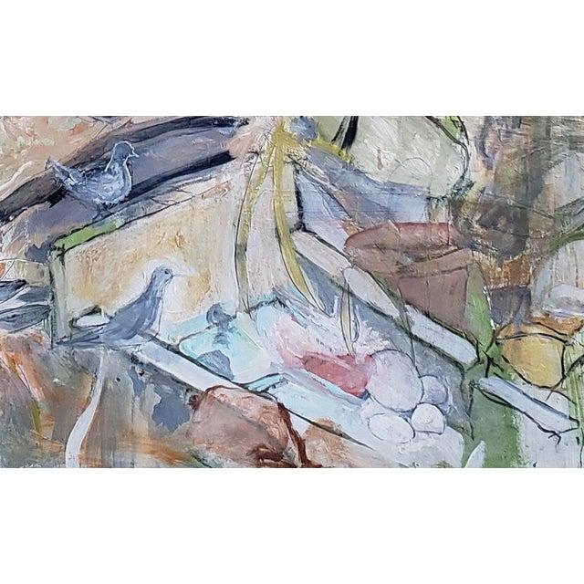 "Contemporary Neil Brooks ""Bird Bath"" Landscape Painting For Sale - Image 3 of 6"