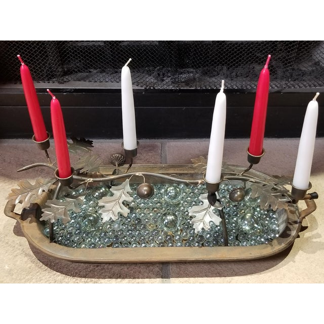 Antique Cast Iron Decorative Candle Holder, 1860s-1880s For Sale - Image 10 of 11