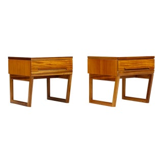 White and Newton Teak Night Stands-A Pair For Sale