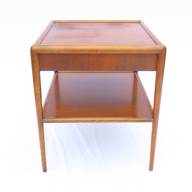 """Rare side table designed by T.H. Robsjohn-Gibbings for Widdicomb. Dated and numbered on underside: """"11/52 / 1763"""". Coming..."""