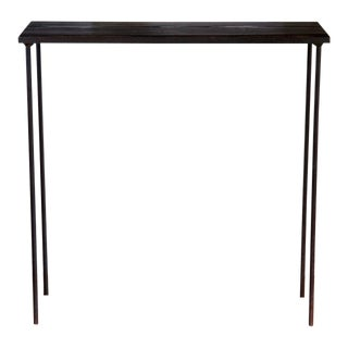 Mid-Century Modern Pine and Steel Console Table For Sale