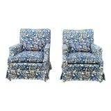 Image of Brunschwig & Fils Tapestry Custom Upholstered Side Chairs - a Pair For Sale