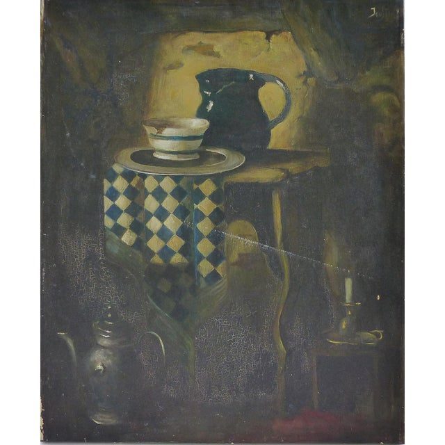 Dutch Style Still-Life Oil Painting on Linen For Sale - Image 10 of 10