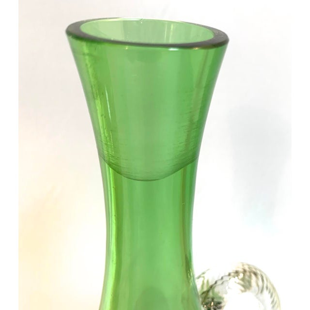 Murano Vintage Murano Glass Decanter With Twisted Spire Stopper For Sale - Image 4 of 6