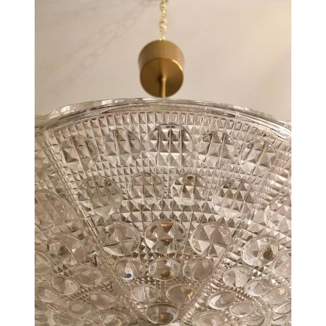 1950s Swedish Orrefors Fagerlund Crystal Glass Pendant For Sale - Image 5 of 7