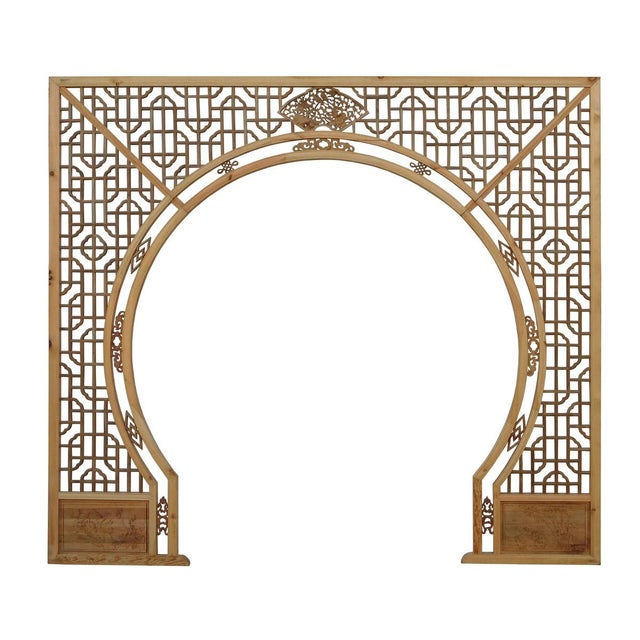 Chinese Light Natural Wood Arch - Image 8 of 10