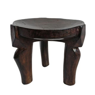 Tanzania Hehe Wood Stool Medium For Sale