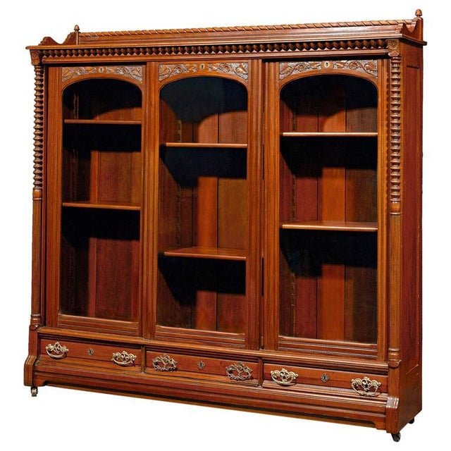 Mid 19th Century English Mahogany Bookcase For Sale - Image 5 of 5