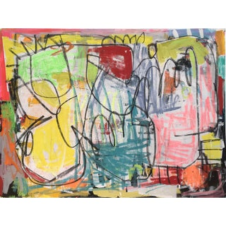 """Takes Village"" Contemporary Abstract Painting For Sale"