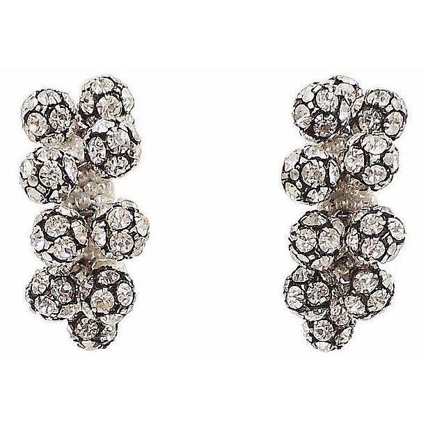 1960s Rhinestone & Faux-Pearl Earrings For Sale - Image 12 of 12