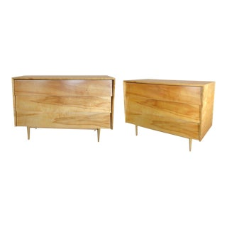 Pair of Early Modernist Large Florence Knoll Chests For Sale