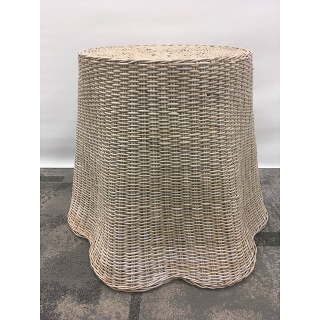Fabulous vintage piece!! This table in wicker can be used as a center table or a dining table. It is heavy enough to hold...