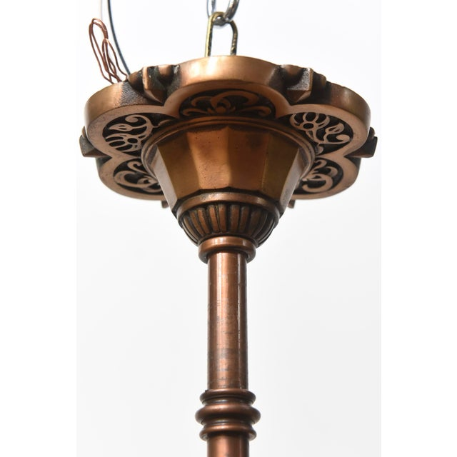 Art Deco Markel Art Deco Bronze Ceiling Fixture - 2 Available For Sale - Image 3 of 5