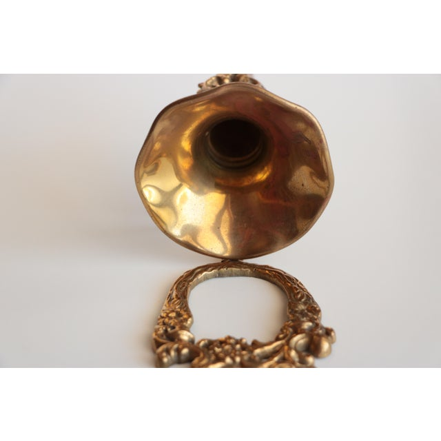 Wall Mounted Scrolled Brass Flower Vase - Image 3 of 4