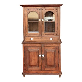 Antique Indo-Dutch Hutch Cabinet For Sale