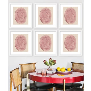 """Large """"Medusa Pink Coin, Set of 6"""" Print by Michelle Farro, 51"""" X 38"""" Preview"""