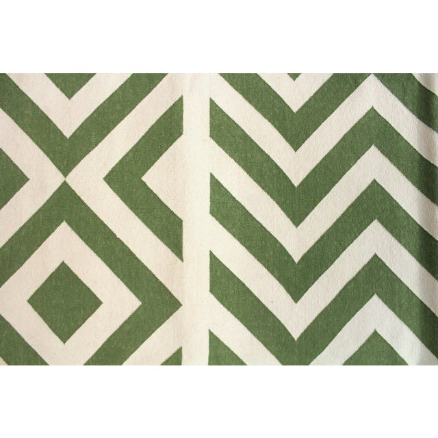 """Madeline Weinrib Green """"Lupe"""" Rug - 9' x 12' For Sale - Image 3 of 6"""