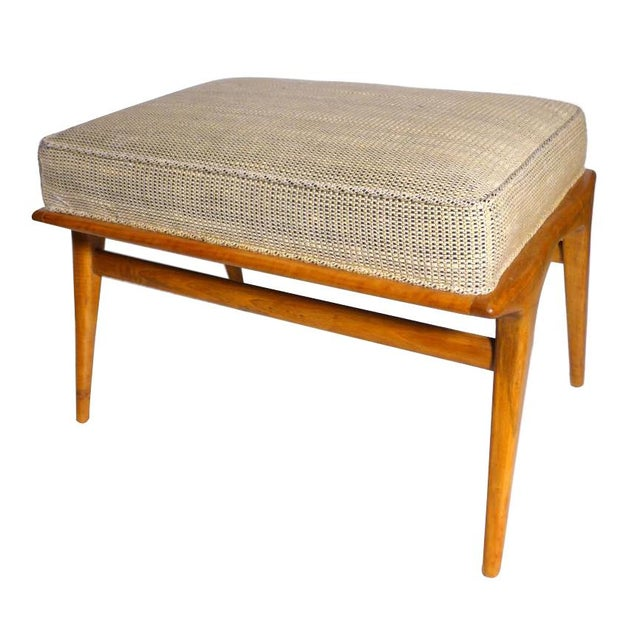 1960s 1960s Vintage Carlo De Carli Ottoman. Like Gio Ponti in Style. All Original, Including the Fabric For Sale - Image 5 of 6