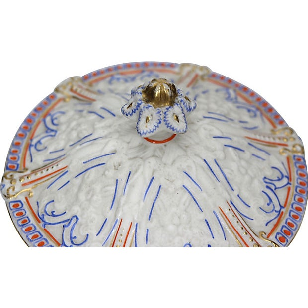 19th Century Antique Salt Glaze Covered Serving Dish For Sale - Image 5 of 6