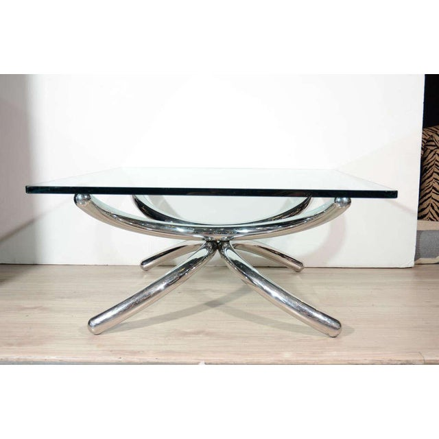 Italian Mid-Century Modern Coffee Table with Sculptural Base Design For Sale In New York - Image 6 of 13