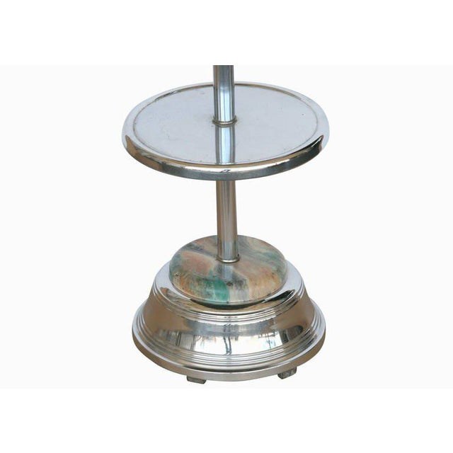 Chrome Art Deco Two Tier Ashtray Stand With Electric Lighter - 50th Anniversary Sale For Sale - Image 4 of 6