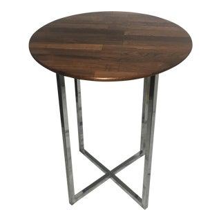 Milo Baughman Rosewood & Chrome Side Table