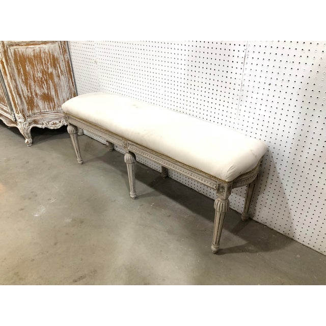 Country Vintage Country French Bench For Sale - Image 3 of 4