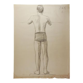 Studio Drawing Male Figure For Sale