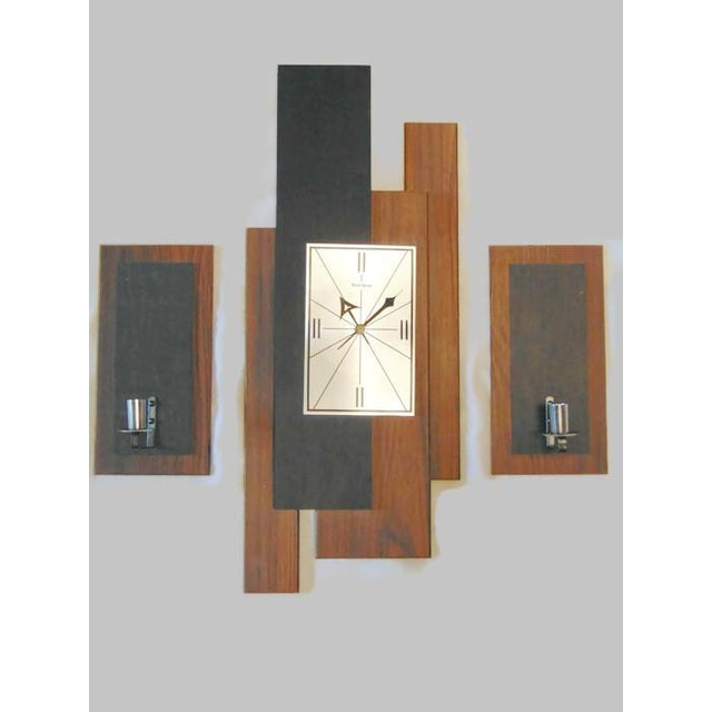 Mid Century Verichron Clock Amp Sconces Set Of 3 Chairish