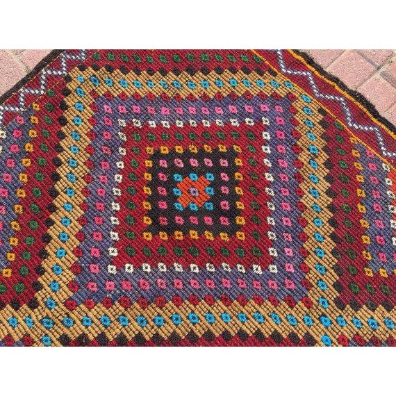 Vintage Handwoven Turkish Kilim Rug - 6'3'' x 11'' For Sale - Image 5 of 5