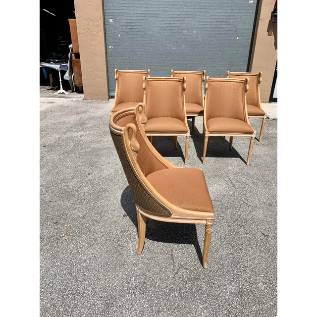 """Mid-Century Modern """"Gondola"""" Swan Neck Dining Chairs - Set of 6 For Sale - Image 12 of 13"""