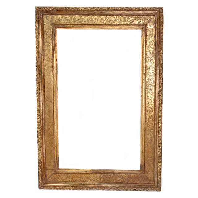 Monumental Hand-Carved and Gilded Florentine Picture Frame For Sale - Image 11 of 11