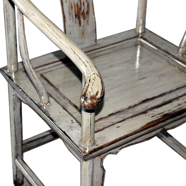 Gray Horseshoe Chairs - A Pair - Image 4 of 5