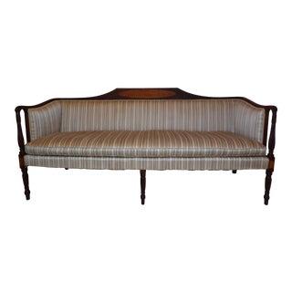 Antique Classical Federal Mahogany Sheraton Style 6 Leg Sofa Massachusetts For Sale
