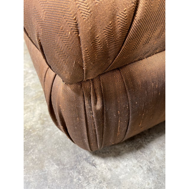 Wood Copper Silk Shantung Rolled Back Slipper Chairs-A Pair For Sale - Image 7 of 12