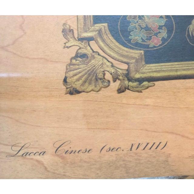 "Vintage Turner Wall Accessories. Asian Landscape Scenes on Veneer ""Lacca Cinese (Sec. Xviii)"" For Sale - Image 4 of 8"