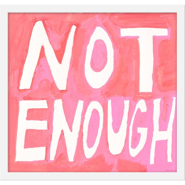 "Contemporary Small ""Too Much/Not Enough, ""Print by Virginia Chamlee, 40"" X 19"" - Set of 2 For Sale - Image 3 of 6"