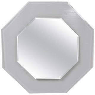 1970s Octagonal Beveled Glass Mirror For Sale