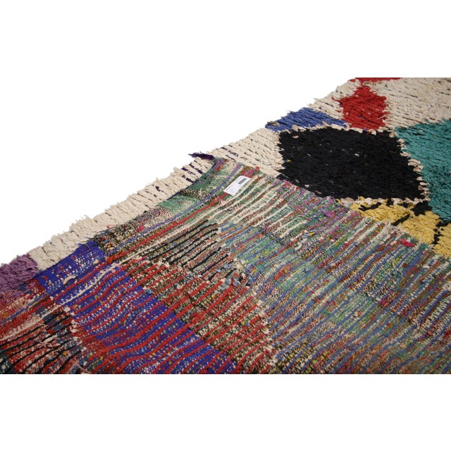 1940s Vintage Berber Moroccan Runner With Tribal Style - 3'8 X 7'9 For Sale - Image 5 of 6