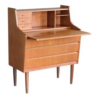Danish Mid-Century Teak Secretary Pullout Desk
