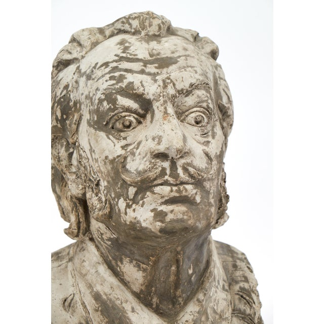 Gray Salvador Dali Vintage Stone Sculpture Bust For Sale - Image 8 of 10