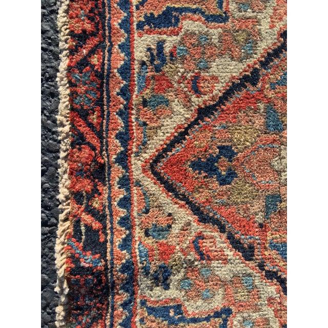 """Vintage Persian Heriz Door Mat Rug - 2'1"""" x 2'8"""" - Image 4 of 8"""
