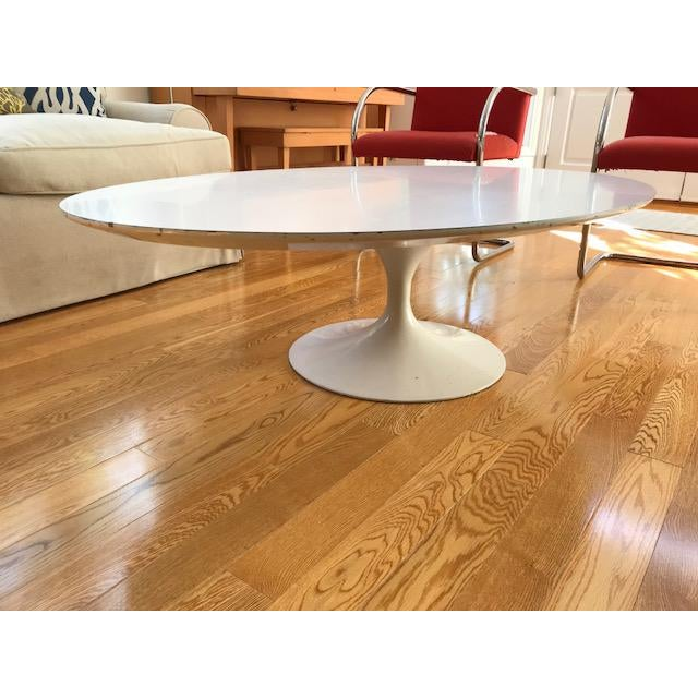 Vintage Eero Saarinen Knoll Oval Tulip Coffee Table - Image 4 of 4