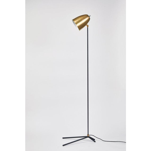 """Not Yet Made - Made To Order """"Oro"""" Brass and Metal Floor Lamp For Sale - Image 5 of 12"""