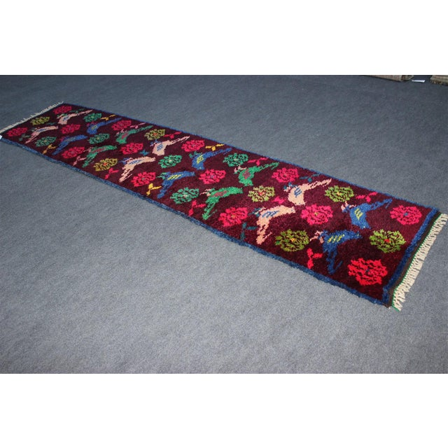 Vintage Turkish Bird Motif Tulu Rug - 2′8″ × 11′6″ - Image 3 of 11